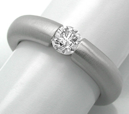 Foto 1, Neu! Brillant-Spann-Ring, River-E! 18K Luxus! Portofrei, S8679