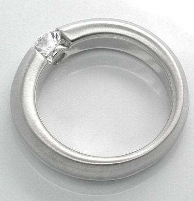Foto 2, Neu! Brillant-Spann-Ring, River-E! 18K Luxus! Portofrei, S8679