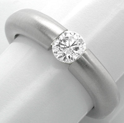 Foto 1, Neu! Brillant-Spann-Ring, River VS 18K Luxus! Portofrei, S8680
