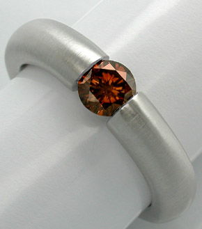 Foto 1, Neu! Brillant-Spann-Ring Gold-Braun 18K Luxus Portofrei, S8681