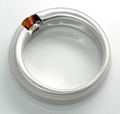 Foto 2, Neu! Brillant-Spann-Ring Gold-Braun 18K Luxus Portofrei, S8681