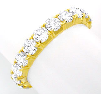 Foto 1, Brillant-Allianz-Voll-Memory-Ring 2,6ct 18K Luxus! Neu!, S8685