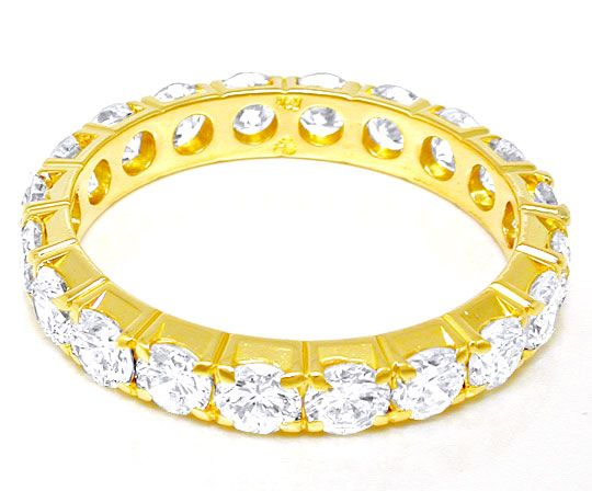 Foto 3, Brillant-Allianz-Voll-Memory-Ring 2,6ct 18K Luxus! Neu!, S8685