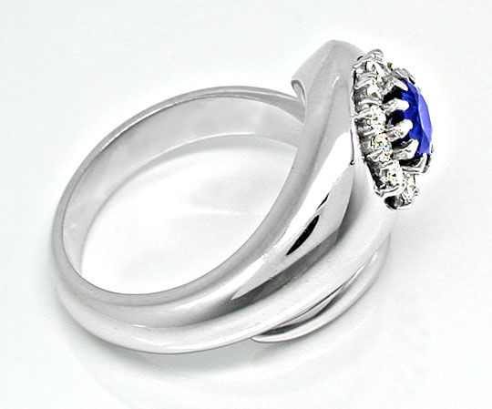 Foto 3, Neu! Traum-Diamant-Safir-Ring 18K River Luxus Portofrei, S8687