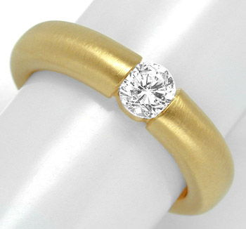 Foto 1, Neu! Brillant-Spann-Ring, River-D! 18K Luxus! Portofrei, S8691