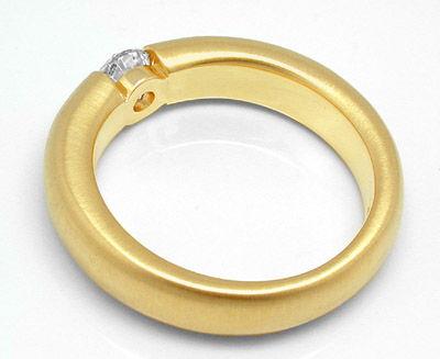 Foto 2, Neu! Brillant-Spann-Ring, River-D! 18K Luxus! Portofrei, S8691