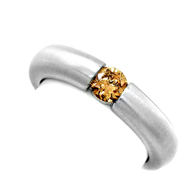 Neu! Brillant Spann Ring 18K Goldbraun Luxus! Portofrei, Designer Ring