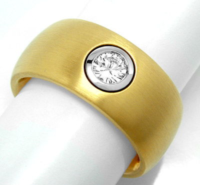 Foto 1, Brillant Ring River Lupenrein 20G 18K Traum! Luxus! Neu, S8715