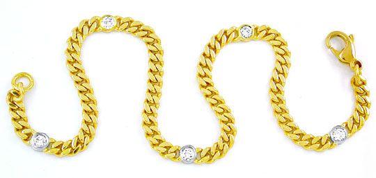 Foto 1, Brillant Goldarmband 0,43ct River Lupenrein, 18K Luxus!, S8721