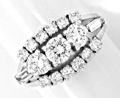 Foto 1, Klassischer Super-Diamant-Ring River Weissg. Luxus! Neu, S8729