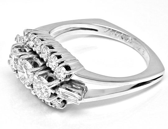 Foto 3, Klassischer Super-Diamant-Ring River Weissg. Luxus! Neu, S8729