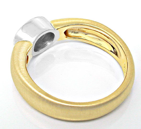 Foto 3, Traum-Ring 0,77ct Ovaler Diamant 18K Bicolor Luxus! Neu, S8730