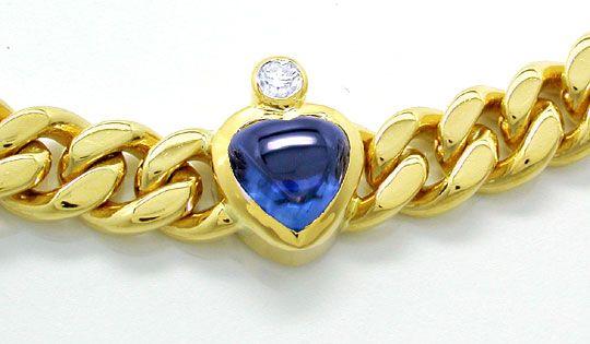 Foto 3, Brillantarmband Safire-Rubine-Smaragd-Herzen Luxus! Neu, S8736