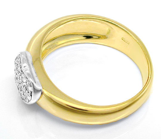 Foto 3, Brillant-Herz-Ring Top Design Gio Caroli 18K Luxus! Neu, S8739