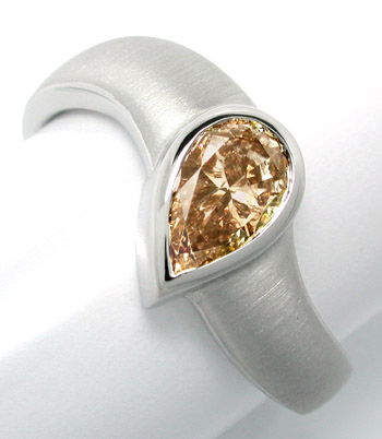 Foto 1, Neu! 0,82ct Diamant-Solitär-Ring, 18K-Weissgold, Luxus!, S8746