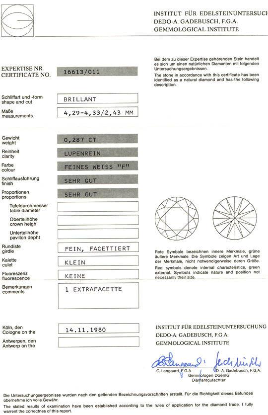 Foto 3, Neu! Traumring 18K-Wg Lupenrein! Top-Wesselton-F Luxus!, S8747