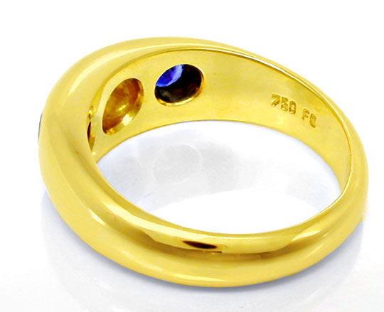 Foto 3, Brillant-Bandring Spitzensafire Top-Brillant Luxus! Neu, S8756