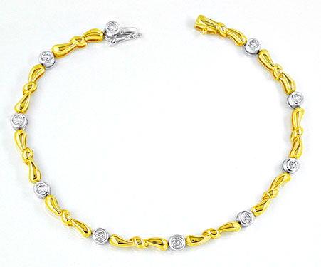 Foto 1, Brillant-Armband 14K/585 Bicolor Top-Modern Luxus! Neu!, S8766