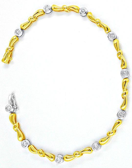 Foto 2, Brillant-Armband 14K/585 Bicolor Top-Modern Luxus! Neu!, S8766