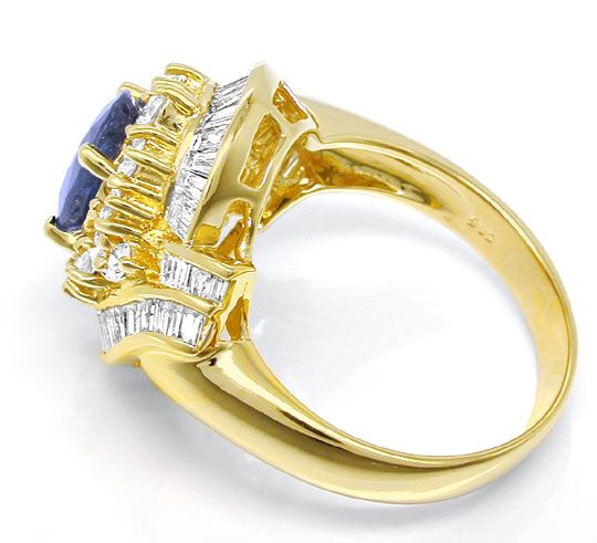 Foto 3, Diamant-Safir-Ring 1,74 und 2,19ct Gelbgold Luxus! Neu!, S8773