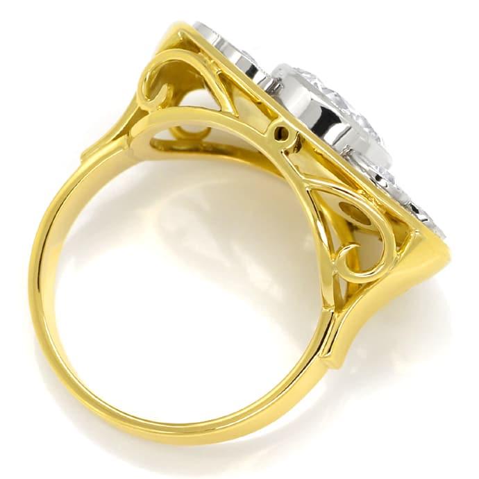 Foto 3, Diamantring 40er-Jahre 2,07ct Solitär Gelbgold-Weißgold, S8780