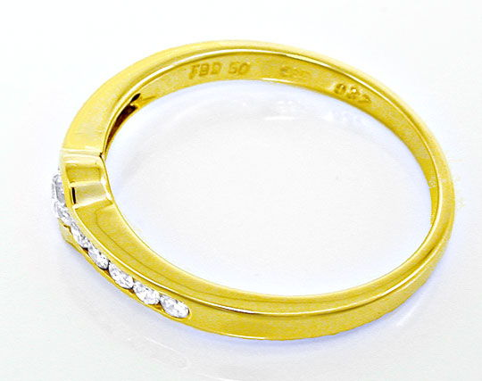 Foto 3, 1A-Spann-Brillant-Ring 0,37ct River Gelbgold Luxus! Neu, S8788