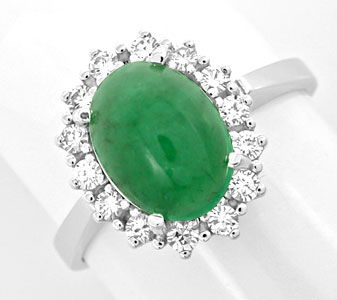 Foto 1, Brillant-Ring 1,9ct Smaragd River Lupenrein Luxus! Neu!, S8795