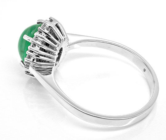 Foto 3, Brillant-Ring 1,9ct Smaragd River Lupenrein Luxus! Neu!, S8795