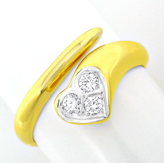 Foto 2, Top Brillantring River 18K Gelbgold Weissgold Shop Neu!, S8800