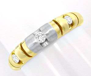 Foto 1, Brillant Bandring, Top Design! 18K Zweifarbig Shop Neu!, S8803