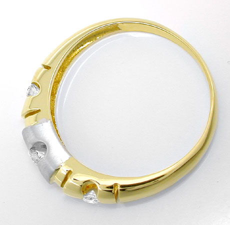 Foto 3, Brillant-Bandring, Top-Design! 18K-Zweifarbig Shop Neu!, S8803