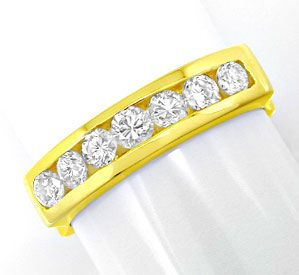 Foto 1, Brillant Halb Memory Ring Top Design 18K GG Luxus! Neu!, S8804