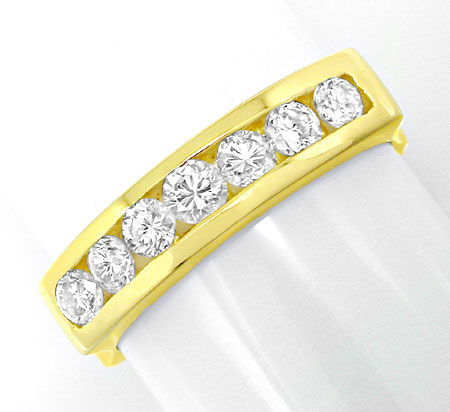 Foto 2, Brillant Halb Memory Ring Top Design 18K GG Luxus! Neu!, S8804