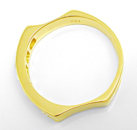 Foto 3, Brillant Halb Memory Ring Top Design 18K GG Luxus! Neu!, S8804