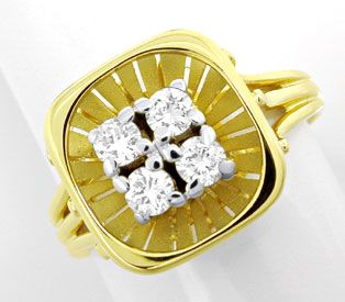 Foto 1, Gold-Ring mit 0,24ct River Brillanten in 14K Handarbeit, S8810