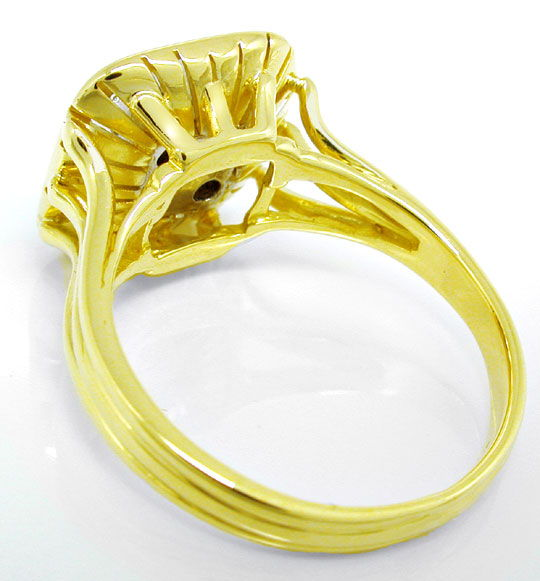 Foto 3, Gold-Ring mit 0,24ct River Brillanten in 14K Handarbeit, S8810