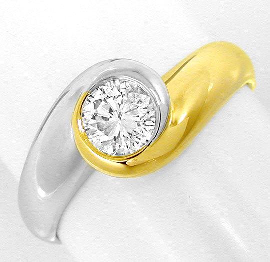 Foto 2, Einmalig schöner Brillant-Solitärring 0,48ct Luxus! Neu, S8811