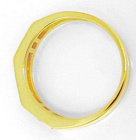 Foto 3, Diamant-Ring Traum-Spitzen-Rubine 14K-Gelbgold Shop Neu, S8813