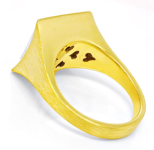 Foto 3, 1A Brillant-Ring Traum-Safire Topdesign 18K Luxus! Neu!, S8814