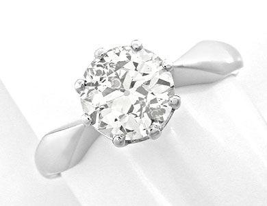 Foto 1, Riesen-Diamant-Solitärring 1,66ct Weissgold Schmuck Neu, S8816