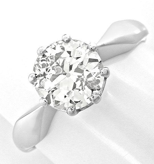 Foto 2, Riesen-Diamant-Solitärring 1,66ct Weissgold Schmuck Neu, S8816
