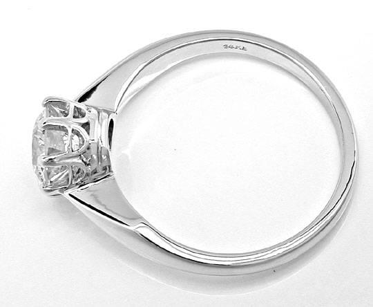 Foto 3, Riesen-Diamant-Solitärring 1,66ct Weissgold Schmuck Neu, S8816