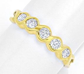 Foto 1, Halbmemory-Ring Gelbgold 0,40 Carat Diamanten Shop Neu!, S8820