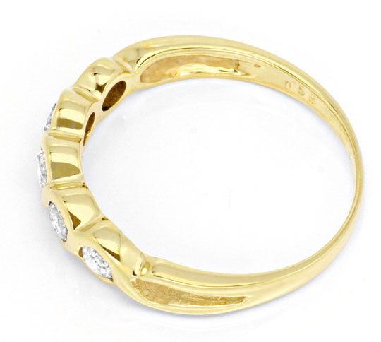 Foto 3, Halbmemory-Ring Gelbgold 0,40 Carat Diamanten Shop Neu!, S8820