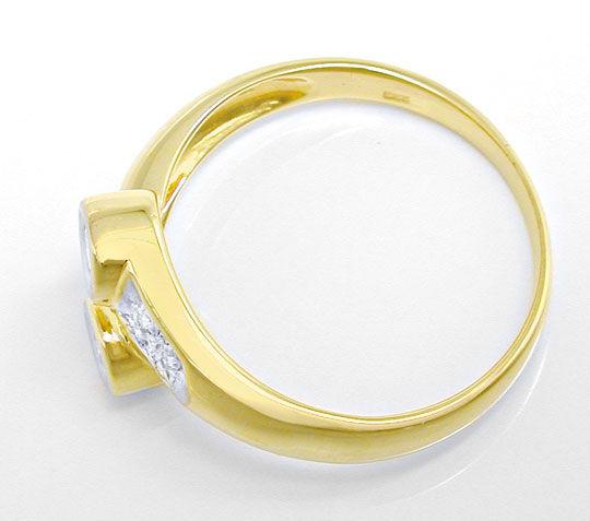 Foto 3, Sehr repräsentativer Diamantring 14K-Gelb-Gold Shop Neu, S8824