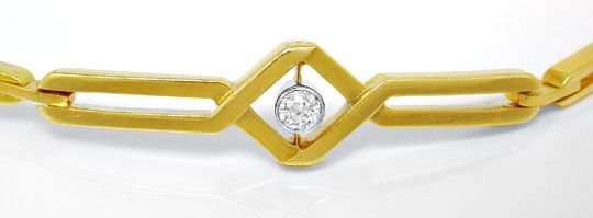 Foto 1, Original Art-Deco Diamant-Armband Rotgold Platin Luxus!, S8830