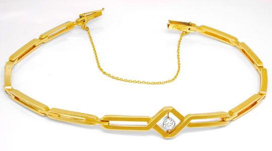 Foto 2, Original Art-Deco Diamant-Armband Rotgold Platin Luxus!, S8830
