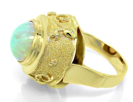 Foto 4, Opal-Handarbeits-Ring Super-Edel-Milch-Opal Luxus! Neu!, S8831