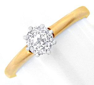 Foto 1, Antiker Diamant-Halbkaräter-Solitär-Ring, Luxus! Neuw.!, S8833