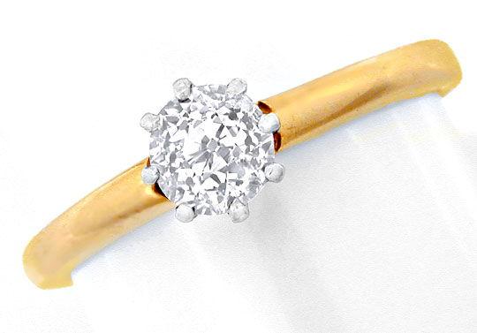 Foto 2, Antiker Diamant-Halbkaräter-Solitär-Ring, Luxus! Neuw.!, S8833